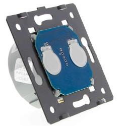Moduł podwójny Livolo włącznika dotykowego z potencjałem N/G (Wymaga żyły N)