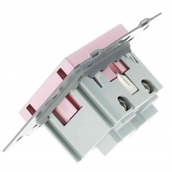 Moduł gniazdka Livolo 230V 16A bez Bolca różowy