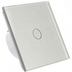 Włącznik dotykowy szklany pojedynczy (Nie wymaga żyły N) szary