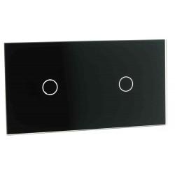 Panel szklany Livolo podwójny 1+1 czarny
